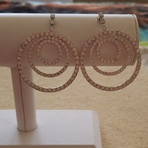 Retro Rhinestone Earrings